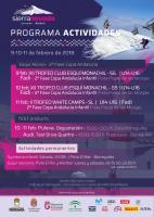 Programa de actividades del 9-11 de febrero en Sierra Nevada