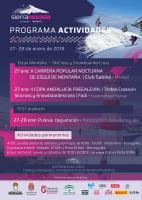 Programa de actividades del 27-28 de enero en Sierra Nevada
